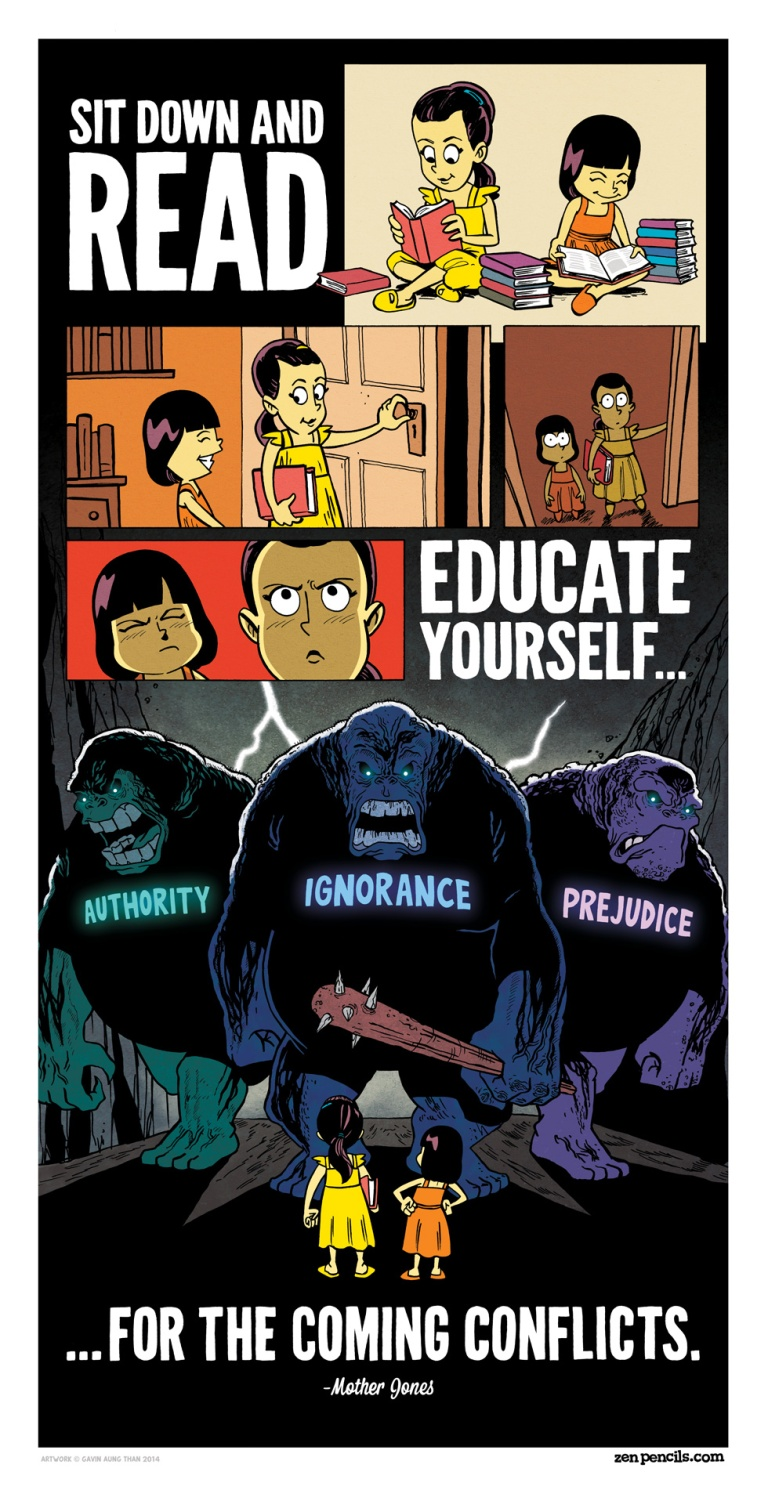 Mother Jones quote interpreted by Zen Pencils