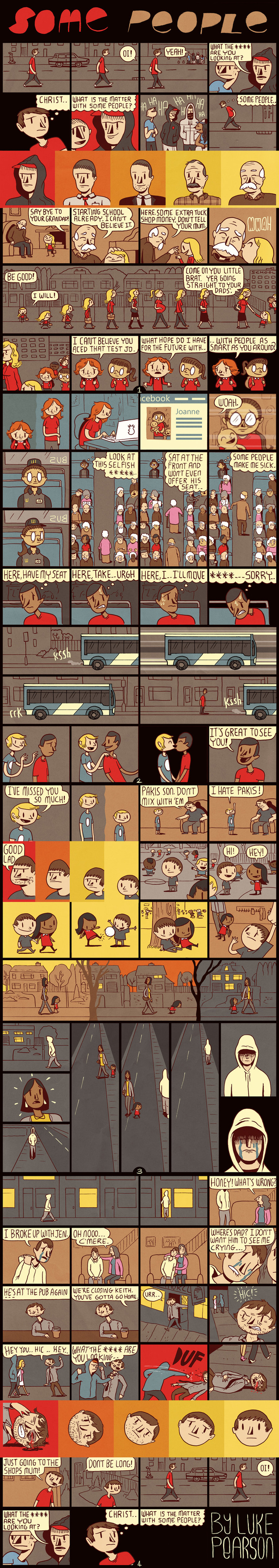 """Some People"" by Luke Pearson is another example of amazing comic structure"